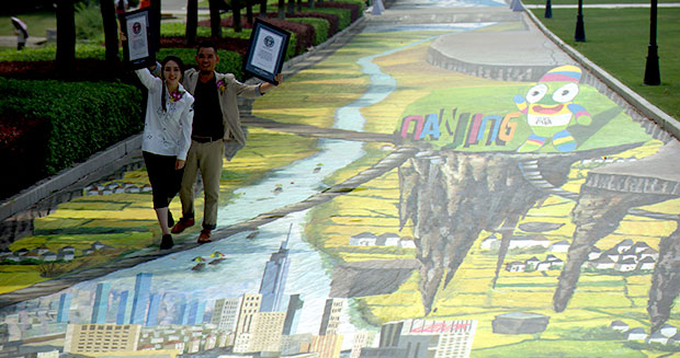 Largest anamorphic painting
