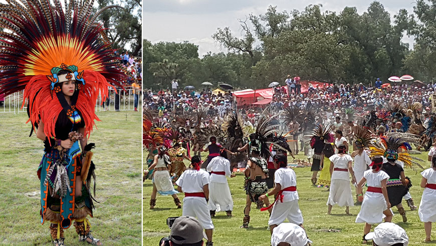 Largest ancient ceremonial Mexican dance collage
