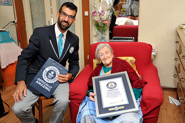 Oldest living person Emma Morano GWR certificate presentation