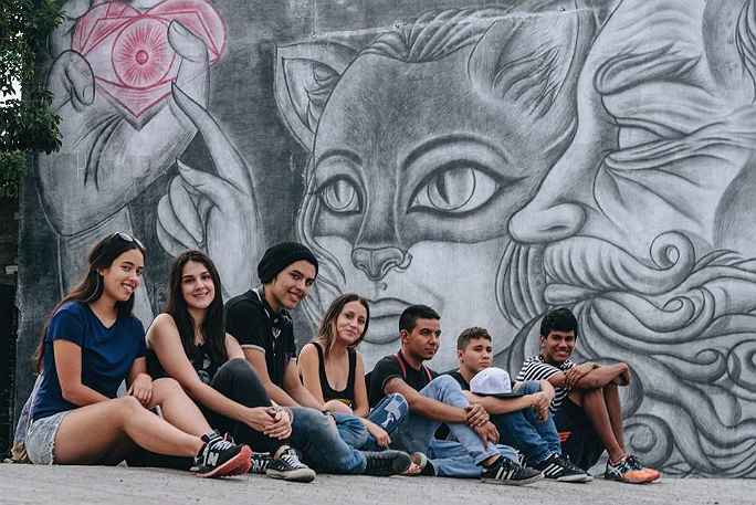 Largest pencil sketch mural 6