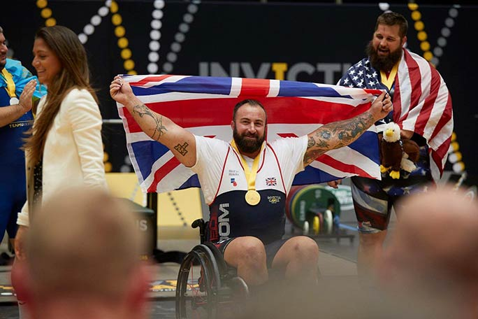 Martin has picked up Invictus Games medals
