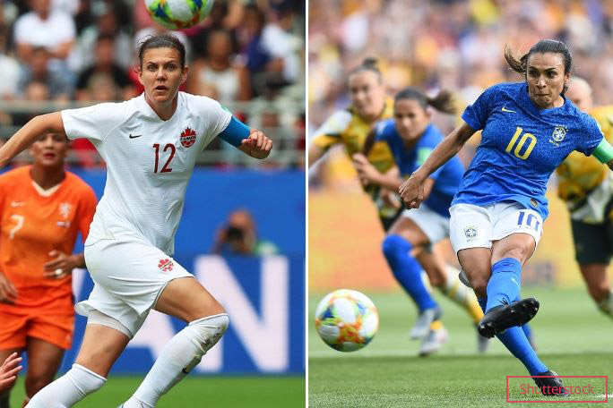 Women's World Cup Christine Sinclair and Marta