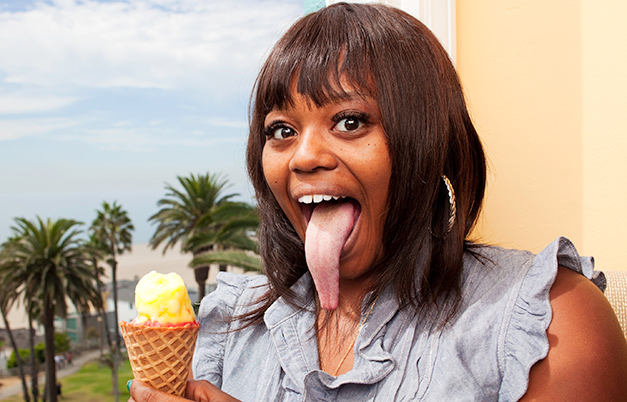 Longest tongue (female)